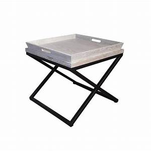 Table D Appoint : table d 39 appoint et plateau ch ne et m tal sully ~ Teatrodelosmanantiales.com Idées de Décoration