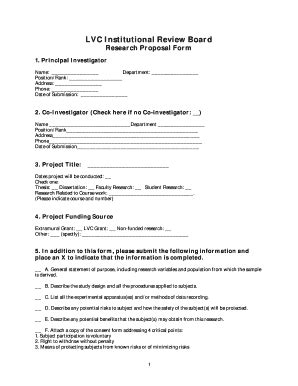 lvc  irb fill  printable fillable blank