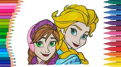 Elsa Und Anna Die Eiskönigin Deutsch Ausmalbilder Färbung