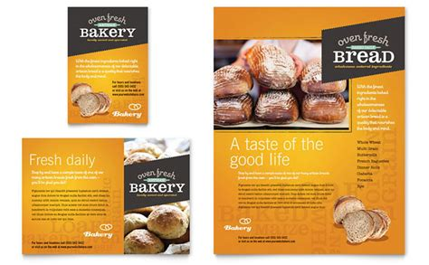 artisan bakery flyer ad template design
