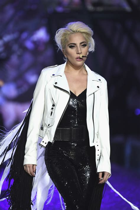lady gaga leather jacket lady gaga  stylebistro
