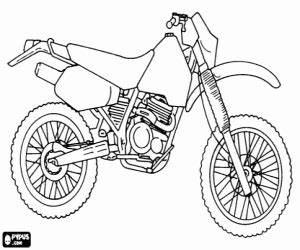 Motocicleta De Enduro O Todo Terreno Para Colorear  Pintar