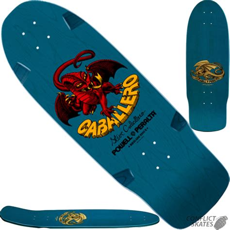 Powell Peralta Steve Caballero Dragon Skateboard Deck Blue