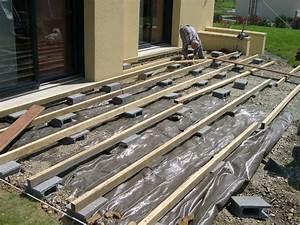 comment construire une terrasse couverte 1 terrasse With construire sa terrasse en bois composite