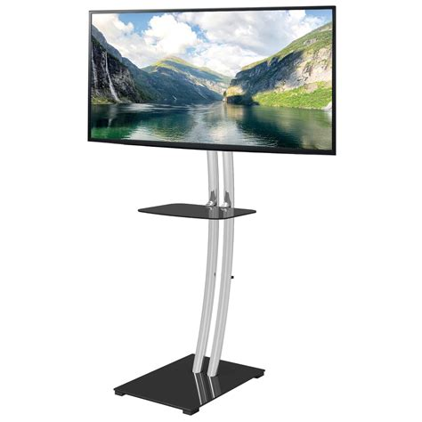 Mensola Tv Supporto A Pavimento Base Rettangolare E Mensola Per Tv
