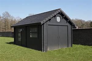 garages bois prefabriques toit plat abri voiture simple With garages en bois prefabriques