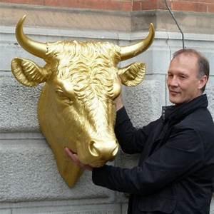 Tete De Vache Deco : sculpture t te de taureau de ottmar horl or ou noir ~ Melissatoandfro.com Idées de Décoration