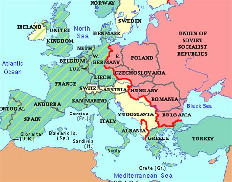 quot cold war map from 1945 to 1961 quot by edith and