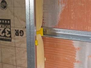 Cloison Sur Rail : pose doublage placo pose du placo sur les murs p riph riques doublage pose des doublages gedeo ~ Nature-et-papiers.com Idées de Décoration