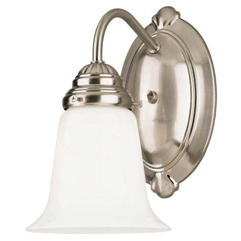 westinghouse 66496 1 light brushed nickel wall light