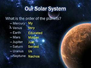 Review for Quiz over Solar System and the Sun - YouTube