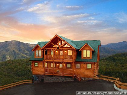 Large 820 Br Cabins In Gatlinburg  Pigeon Forge Tn