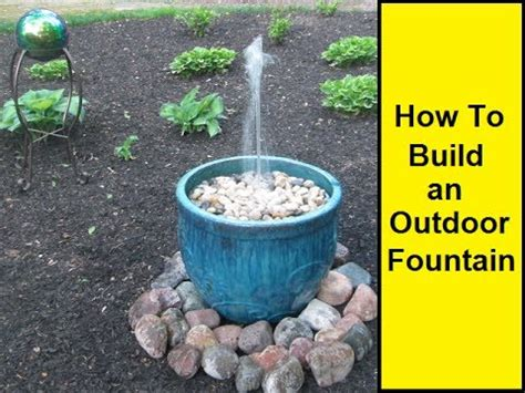 how to make a small water how to make an outdoor fountain youtube