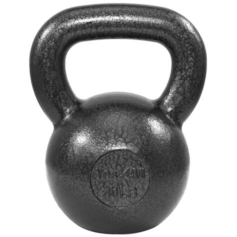 kettlebell lb 60 weights iron cast lbs yes4all strength solid 60lbs body grey training walmart workout kettlebells sports