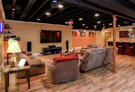 exposed basement ceiling ideas painted and exposed basement ceilings for finished