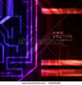 Colorful Abstract Futuristic Background Stock Illustration