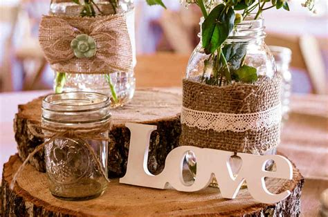 Diy Rustic Wedding Centerpiece For A Country Style Wedding