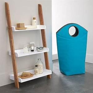Etagere Rangement Salle De Bain : echelle tag re rangement pour salle de bain la redoute ~ Melissatoandfro.com Idées de Décoration