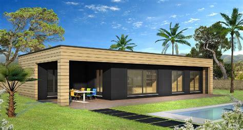 plan maison plain pied 3 chambres gratuit construction villas bois constructeur de maison bois