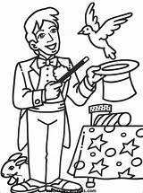 Cirque Coloriage Coloriages Magician Coloring Characters Circus Circo Clown Colorier Mago Dessin Theme Dibujo Colorir Magic Dibujos Magicien Colorear Tan sketch template