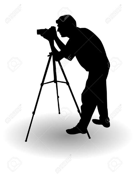 12144 professional photographer clipart silhouette clipart photographer pencil and in color