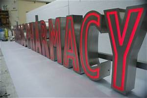 ice signs have just installed their automated metal With build up letters