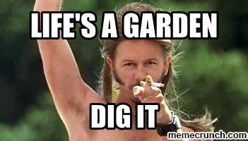 Joe Dirt Memes - life s a garden