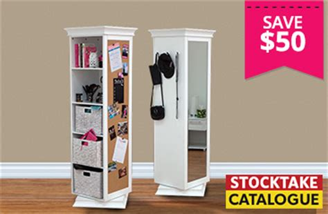 rotating swivel storage mirror and bookcase dealsdirect furniture stocktake sale catalogue out now