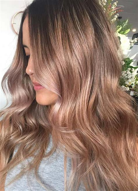 rose gold hair color ideas   rose gold hair