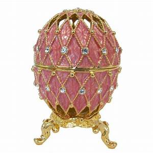 Faberge Syle Jewelry - Faberge Egg Openwork Pink - Russian
