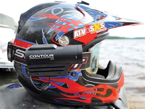 contour helmet high tech gear the contour gps atv illustrated