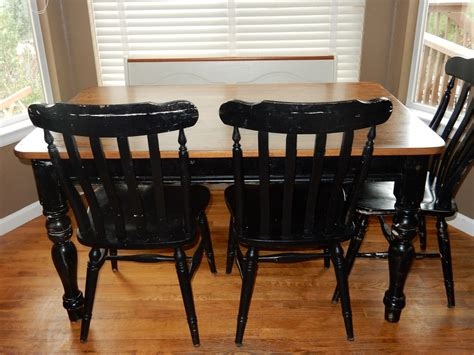 black chalk paint kitchen table a table restoration refinishing with chalk paint