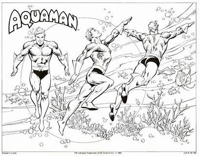 Aquaman Dc Coloring Pages Comic Comics Guide