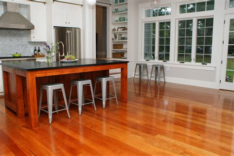 kitchen with cherry wood floors american cherry wood floors contemporary kitchen providence by hull forest products