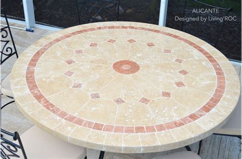 cm outdoor mosaic  table natural stone top
