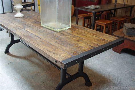 table en bois industriel table industrielle par le marchand d oublis
