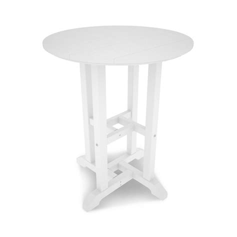 white round outdoor table polywood traditional white round outdoor patio dining
