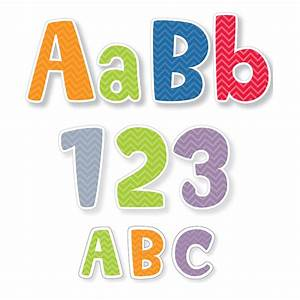 chevron letters pack 4in punch out ctp8915 letters for With punch out letters for bulletin boards