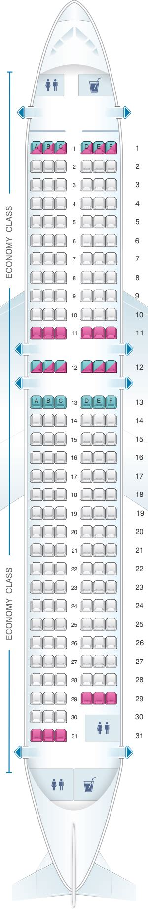 plan siege avion easyjet seat map easyjet airbus a320 seatmaestro