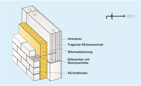 Daemmstoffe Waermeschutz Fuer Keller Fassade Und Dach by Aufbau Zweischaligem Mauerwerk