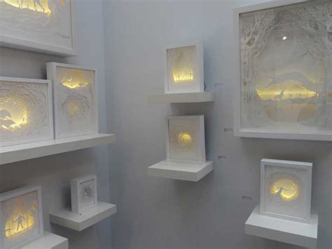 shadow box lighting illuminated cut paper light boxes by hari deepti colossal