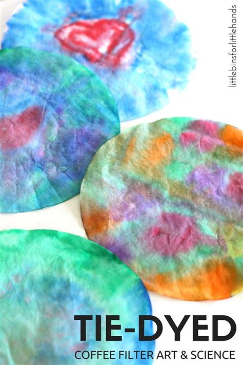 How to make a tie dye coffee filter monster: Tie Dye Coffee Filter Art for Dr. Seuss The Lorax   Coffee ...