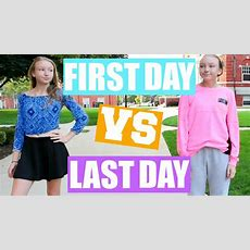 First Day Of School Vs Last Day Of School 2016!!! Youtube