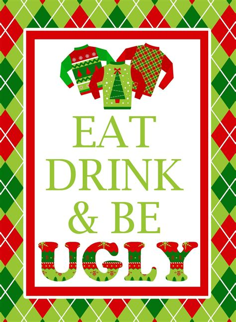 ugly sweater party invitation template  word