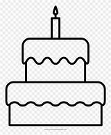 Cake Birthday Coloring Bolo Desenho Drawing Aniversario Fancy Clipartkey 70kb sketch template