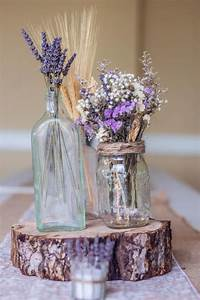 Dried lavender centerpieces rustic country decor for Lavender table decorations for weddings