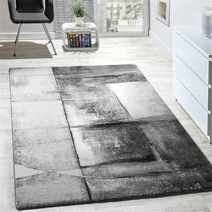 Wohnzimmer Teppiche Günstig : designer teppich modern kurzflor wohnzimmer trendig meliert grau creme silber ebay ~ Whattoseeinmadrid.com Haus und Dekorationen