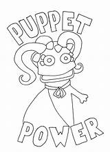 Puppet Coloring Pages Master Puppets Colouring Template Wump Mucket Getcolorings Printable Colorings Getdrawings sketch template