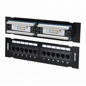 Cat5e Utp 12 Port Network Mini Patch Panel 110 With
