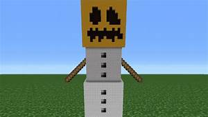 Minecraft Tutorial: How To Make A Snow Golem Statue - YouTube